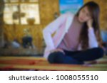 blurred of beautiful girl is...   Shutterstock . vector #1008055510