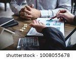 real estate broker agent being... | Shutterstock . vector #1008055678