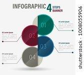 infographic four steps banner...   Shutterstock .eps vector #1008055906