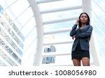 businesswoman holding...   Shutterstock . vector #1008056980