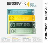 abstract business four steps...   Shutterstock .eps vector #1008057010