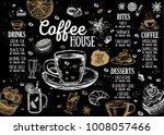 coffee house menu. restaurant... | Shutterstock .eps vector #1008057466