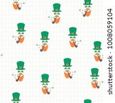 seamless vector pattern with... | Shutterstock .eps vector #1008059104