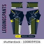 leggings pants fashion vector... | Shutterstock .eps vector #1008059536