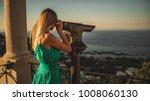 women looking to the sea...   Shutterstock . vector #1008060130
