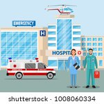 hospital building  medical icon.... | Shutterstock .eps vector #1008060334