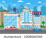 hospital building  medical icon.... | Shutterstock .eps vector #1008060340