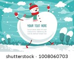 vector illustration of winter... | Shutterstock .eps vector #1008060703