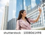 young asian business owner...   Shutterstock . vector #1008061498