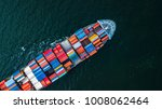 top view container cargo ship... | Shutterstock . vector #1008062464