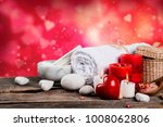 spa massage setting  product ... | Shutterstock . vector #1008062806
