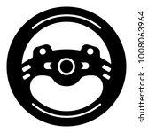 steering wheel icon. simple... | Shutterstock .eps vector #1008063964