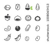seed icon set.   Shutterstock .eps vector #1008065413
