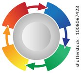4 step process flow circling...   Shutterstock .eps vector #1008067423
