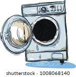 Old Broken Washing Machine In...