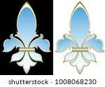 elegant french heraldic lily on ...   Shutterstock . vector #1008068230