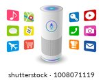 voice control user interface... | Shutterstock .eps vector #1008071119
