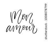 mon amour   my love in french   ... | Shutterstock .eps vector #1008078799
