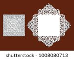 wedding invitation with lace... | Shutterstock .eps vector #1008080713