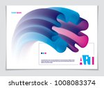 vector of modern abstract shape ... | Shutterstock .eps vector #1008083374