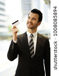 young business man showing his... | Shutterstock . vector #1008085894