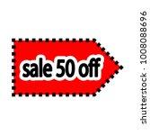 illustration sign of sale 50... | Shutterstock .eps vector #1008088696