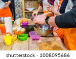 stove with fresh food at... | Shutterstock . vector #1008095686