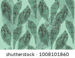 exotic leaf tropical seamless... | Shutterstock . vector #1008101860