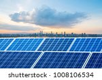 solar panels with cityscape of... | Shutterstock . vector #1008106534