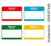 hello my name is | Shutterstock .eps vector #1008107668