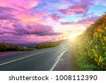 empty asphalt road through... | Shutterstock . vector #1008112390