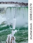 frozen rush in winter at... | Shutterstock . vector #1008115270