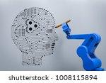 3d rendering robot arm writing... | Shutterstock . vector #1008115894