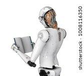 3d rendering humanoid robot... | Shutterstock . vector #1008116350