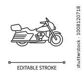 motorbike linear icon. thin... | Shutterstock .eps vector #1008120718