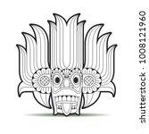 black outline sri lankan devil... | Shutterstock .eps vector #1008121960