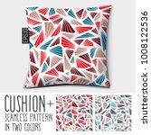 design vector pillow  cushion . ... | Shutterstock .eps vector #1008122536