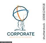 corporate logo   icon of god...   Shutterstock .eps vector #1008124018