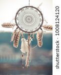 beatiful dreamcatcher is moving ... | Shutterstock . vector #1008124120