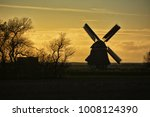 picturesque mill in holland | Shutterstock . vector #1008124390