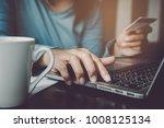 modern business technology.... | Shutterstock . vector #1008125134