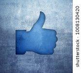 thumb symbol raised in ok sign | Shutterstock . vector #1008130420