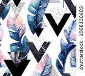 abstract tropical summer design ...   Shutterstock . vector #1008130603