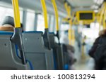 city bus interior   Shutterstock . vector #100813294