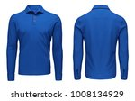 blank template mens blue polo... | Shutterstock . vector #1008134929