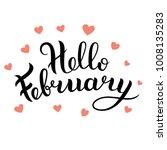 hello february vector... | Shutterstock .eps vector #1008135283