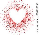 red frame of scatter confetti... | Shutterstock .eps vector #1008136336