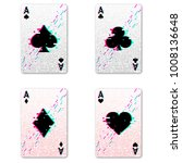 set four aces for playing poker ...   Shutterstock .eps vector #1008136648