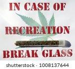 sign with marijuana cigarette... | Shutterstock . vector #1008137644