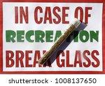 sign with marijuana cigarette... | Shutterstock . vector #1008137650